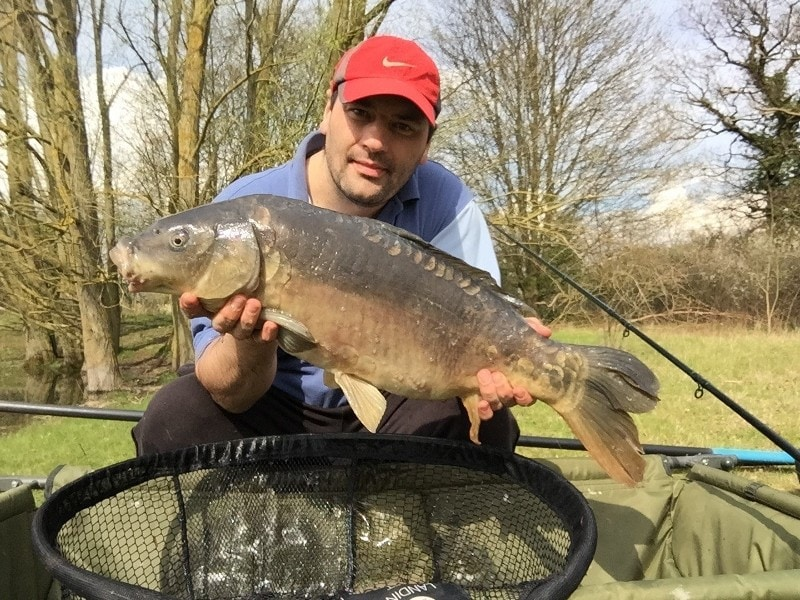 Carp fishing at Grendon ponds